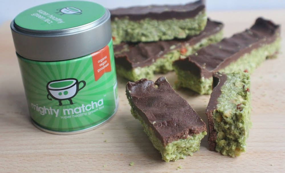 Mighty Matcha Goji Bars